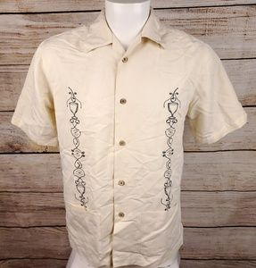 Cubavera Embroidered Shirt Small